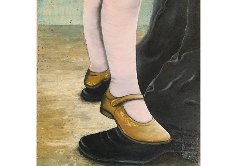 Dancing on Papa's feet
